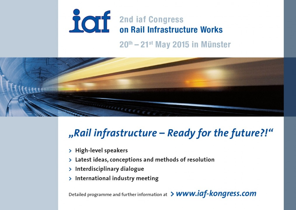 IAF Congress on Rail Infrastructure Works 2015